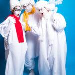 Мимы-снеговики на праздник